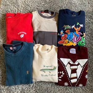 Sweaters - Lot of 6 Crewneck Sweaters Sweatshirts Vintage